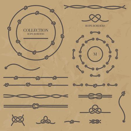 zestaw elementów morskich liny.