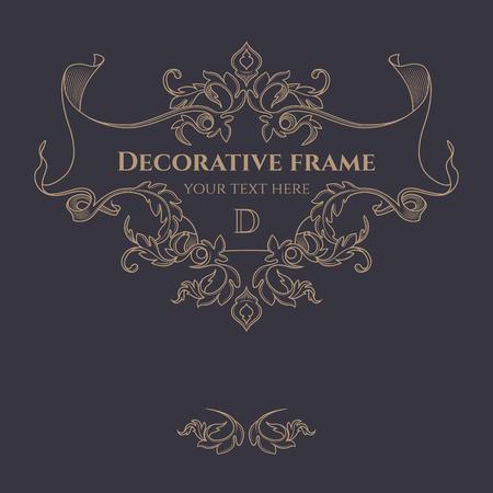 Decorative frame.  Vettoriali