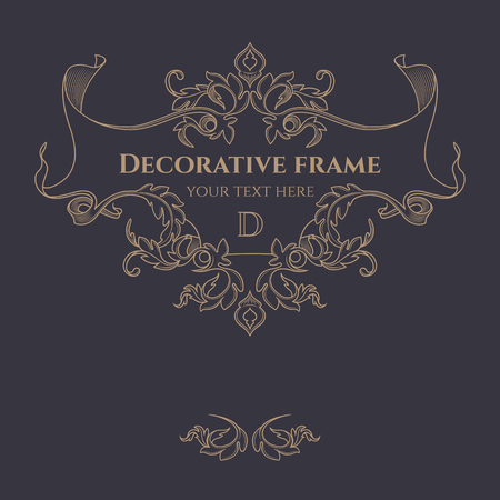 Decorative frame.  向量圖像
