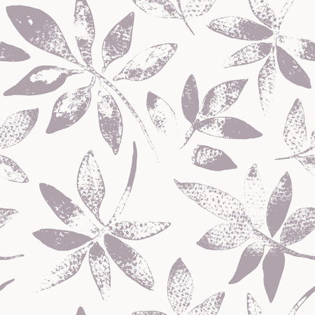 hand painted: Seamless pattern. Hand drawing leaves. Background with painted leaves. Vector texture. Brush drawn - rough, artistic edges.