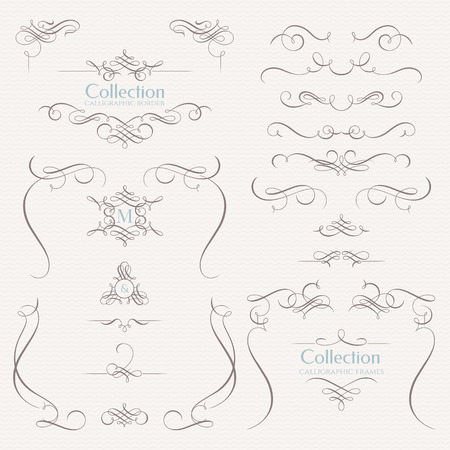 Collection of calligraphic elements. Imagens - 50021747