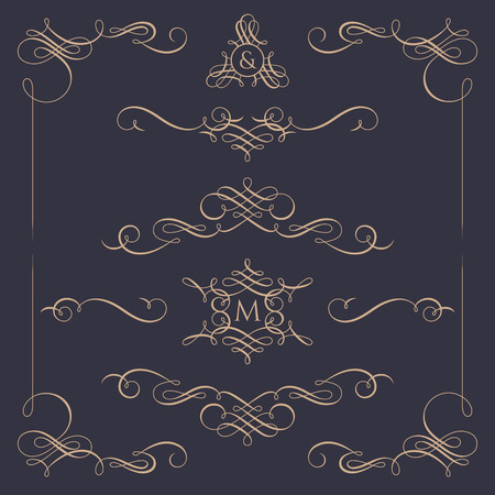 Collection of calligraphic elements.