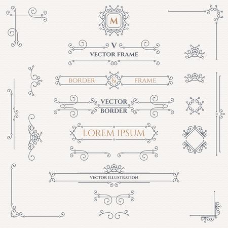vintage design: Set of decorative monograms