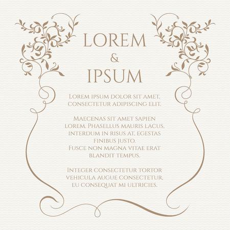 Las fronteras de flor. Plantilla para tarjetas de felicitación, invitaciones, menús. La página de diseño gráfico. Ilustración de vector
