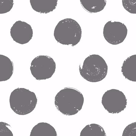 Naadloos patroon. Achtergrond met geschilderde cirkels. Vector textuur. Borstel getrokken - ruwe, artistieke randen.