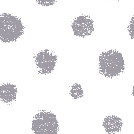 Seamless pattern of different rounds. Background with painted chalk circles.