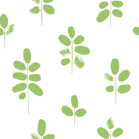 sprig: Hand drawn branches. Seamless pattern. Stylized twigs with rough edges.