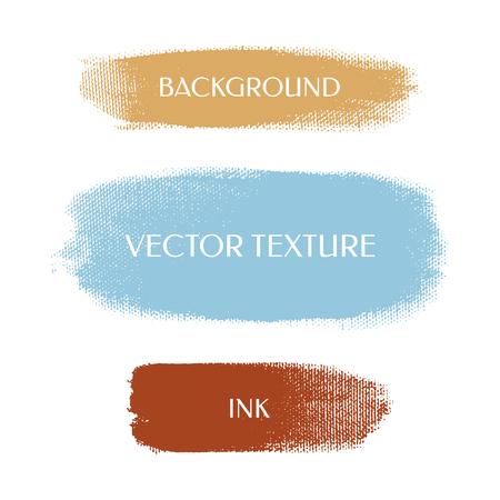 Grunge background. Vector texture. Colored stripes painted on canvas. Brush ink - rough, artistic edges. Illusztráció