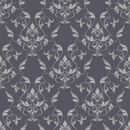 Floral seamless pattern. Classical ornament. Vector Illustration. Decorative background for cards, invitations, wrapping, textiles.