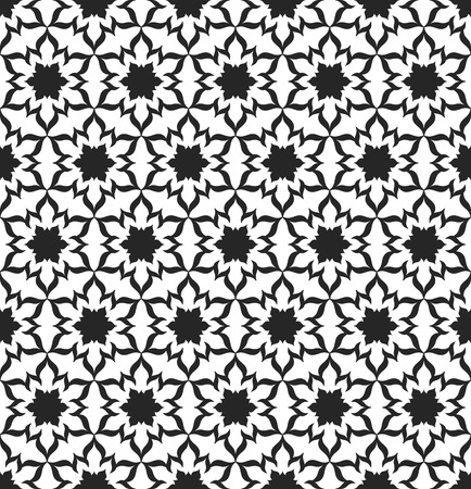 Black and White Seamless Pattern. Decorative Background. Vector Illustration. Vectores