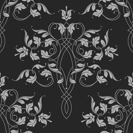Seamless Pattern. Classical Ornament. Vector Illustration. Vettoriali