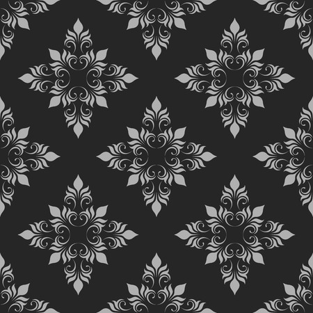 Dark Seamless Pattern. Classical Ornament. Decorative Background.