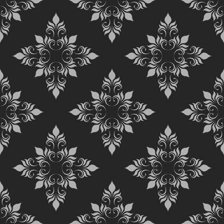 Dark Seamless Pattern. Classical Ornament. Decorative Background.