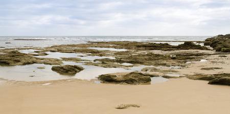 Beautiful spanish beach and landscape with rocks Stock Photo