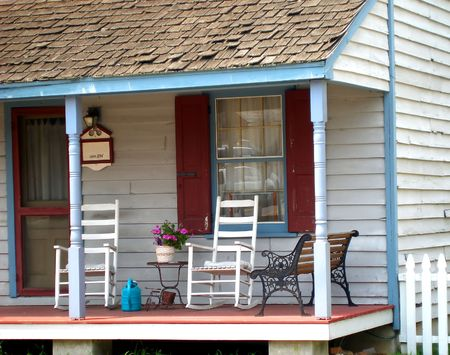 Front porch of historic home in Maryland. Stock Photo - 478478