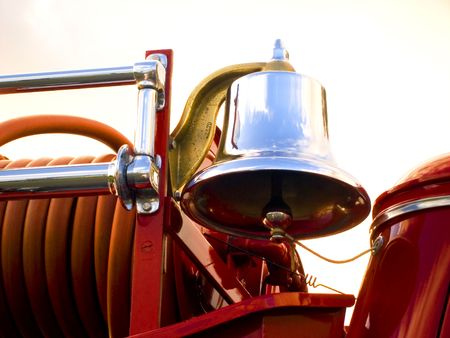 Bell on old firetruck.
