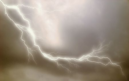 Lightning effect applied to stormy sky background. See more backgrounds in my gallery. Stock fotó