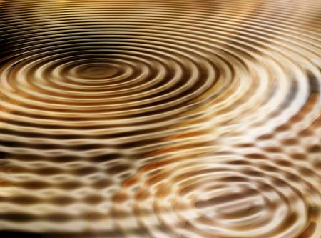 Fluid metal rippled abstract image for backgrounds or wallpaper.