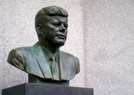 Bust of President John Kennedy in Atlantic City, New Jersey.