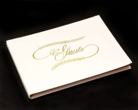Guest Book On Table  Фото со стока