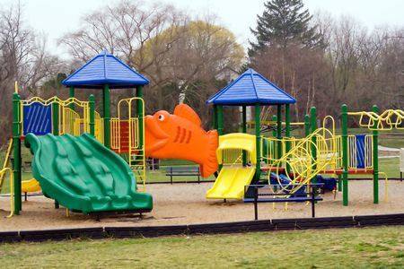Playground Equipment for Small Children at a City Park