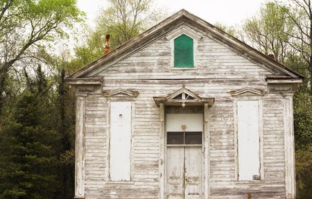 disrepair: View of a 150 year old country church building in much need of paint.