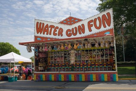 Front view of a Carnival game booth at a city street fair. Stock Photo - 914293