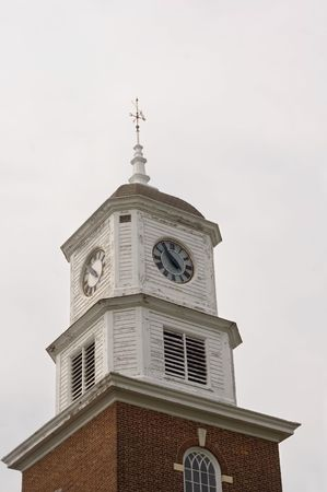 Clock tower and weather vane on a historic governement building in Dover, Delaware, USA. Stock Photo - 927034