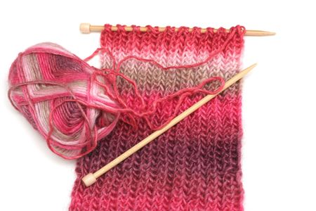 purl: Examples of hand knitted items.