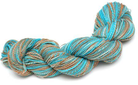 hank: Hank or Skein of Hand-dyed, Hand-spun Wool Yarn