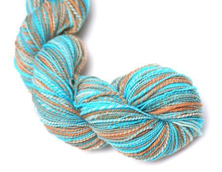 Hank or Skein of Hand-dyed, Hand-spun Wool Yarn