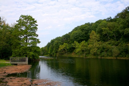 Outdoor River Scene in Summer Season.