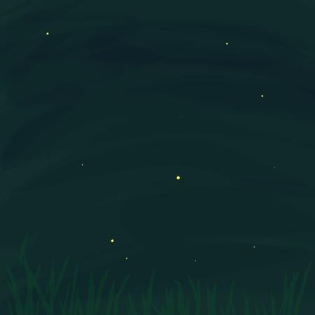 Original digital artwork: Fireflies In The Garden