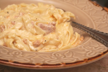 Homemade Tuna casserole with homemade noodles.
