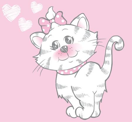 cat s: Cute pretty kitten