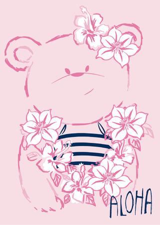 cute bear: hawaiian Cute Bear