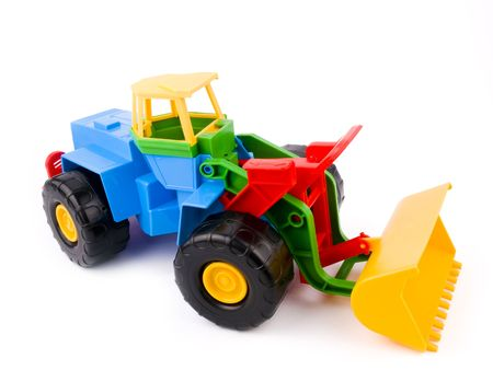 Colourful kid toy on white background photo