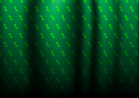 curtains worm dark green Vector