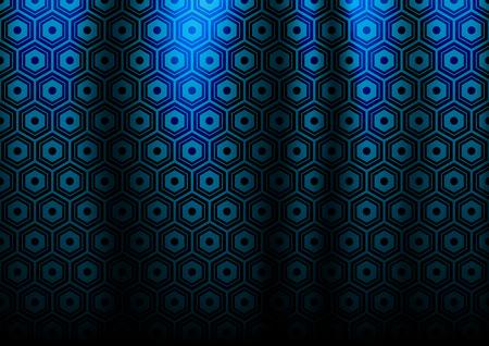 dark blue: Abstract hex circle dark blue