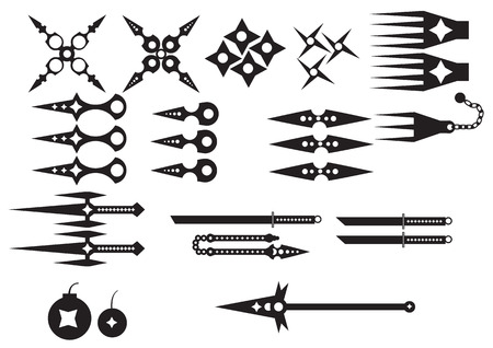 Ninja weapons  Vector
