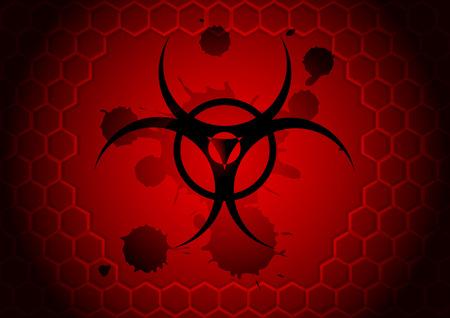 infectious disease: vector s�mbolo de riesgo biol�gico