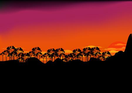 smoky mountains: Sunset Mountain  forest clound