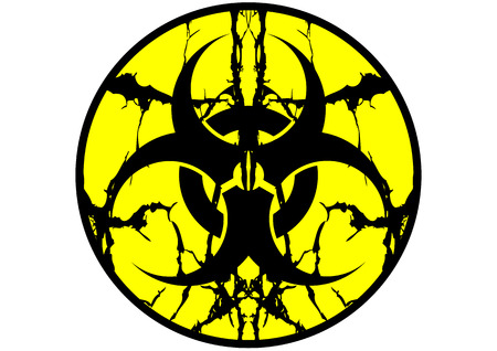 hazardous waste: Label simbolo del rischio biologico sputare isolato