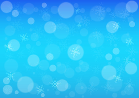 snow winter bokeh  blue light color background Vector