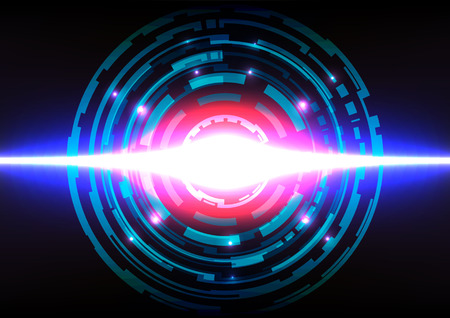 abstract lighting effect circle background