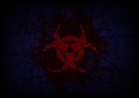 biohazard symbol: biohazard symbol and bloody background