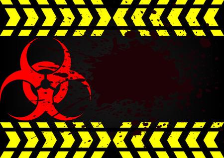 bio hazard symbol dirty blood Vector