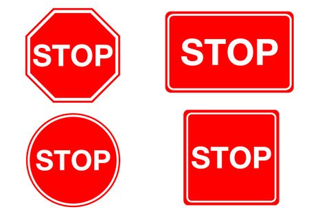 danger sign: stop sign circle square regtangle octagon isolated