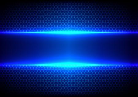 16 進数と光の青色効果のベクトルの背景
