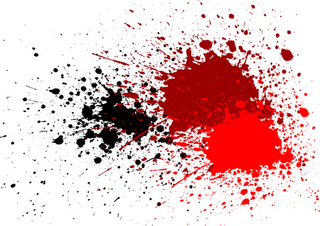 abstract splatter bloed rode zwarte kleur achtergrond